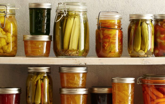 Eat fermented foods such as sauerkraut and apple cider vinegar for a probiotic boost to your gut.