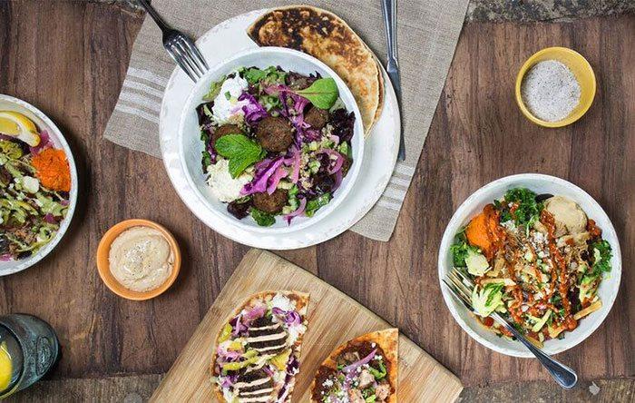 Healthy Mediterranean food at Cava Grill