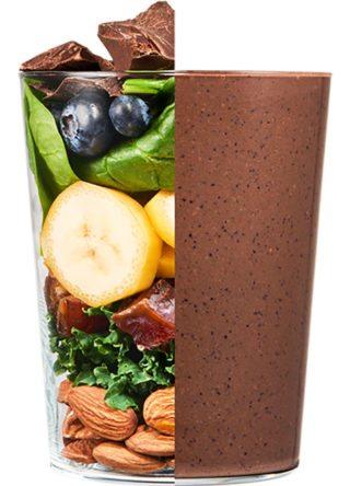 Daily Harvest chocolate blueberry vitality smoothie