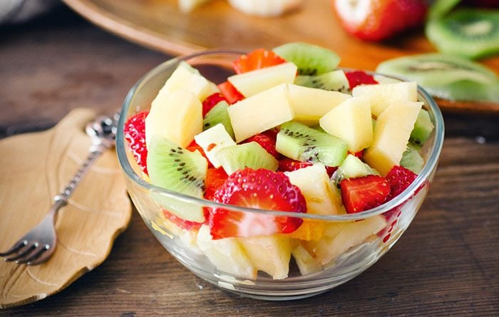 Basil mint fruit salad