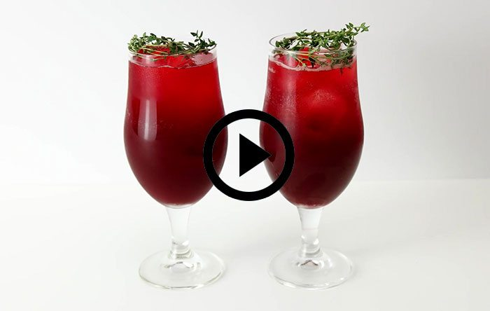 Holiday mocktail video