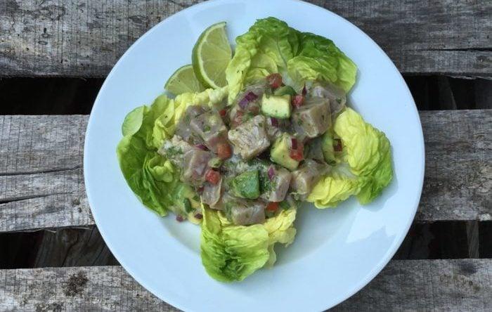 Tuna Ceviche With Avocado and Serrano Chiles Recipe