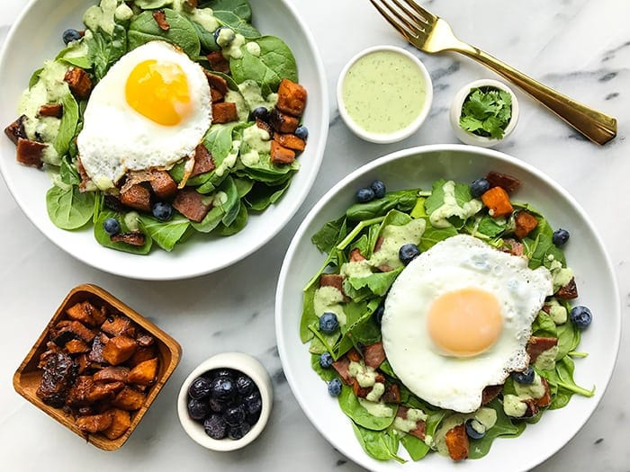 Savory breakfast salad