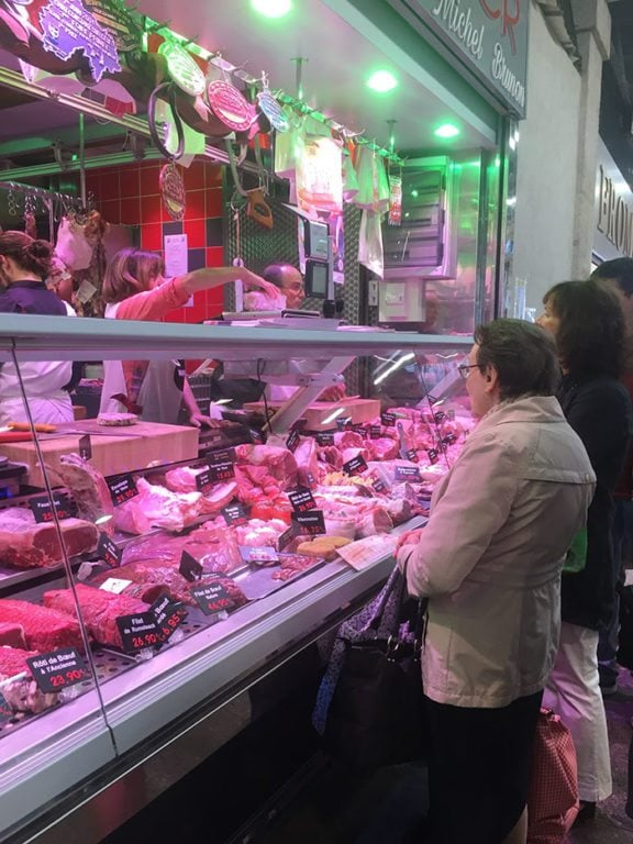 Women at meat counter