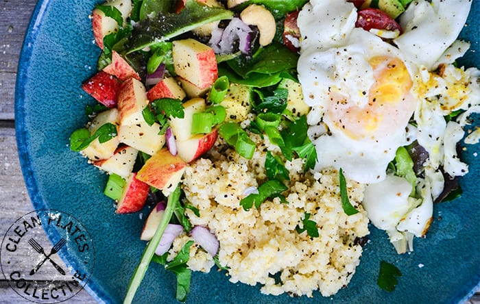 Millet breakfast bowl