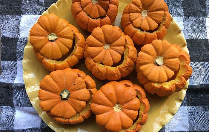 Roasted baby pumpkin