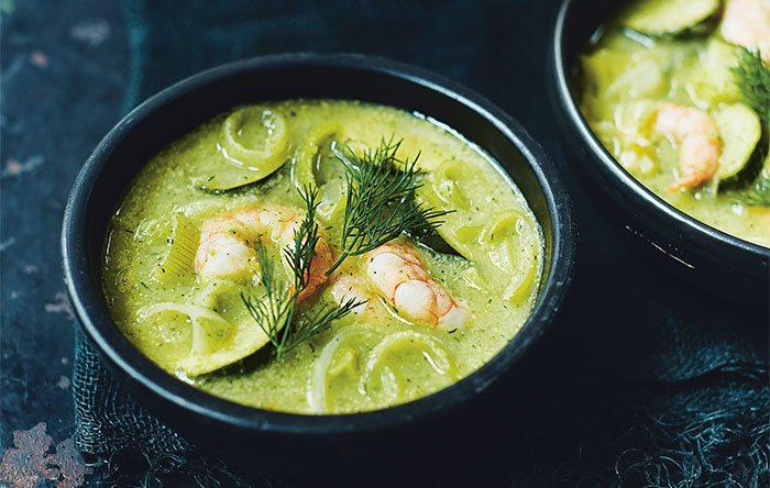 Zucchini shrimp soup
