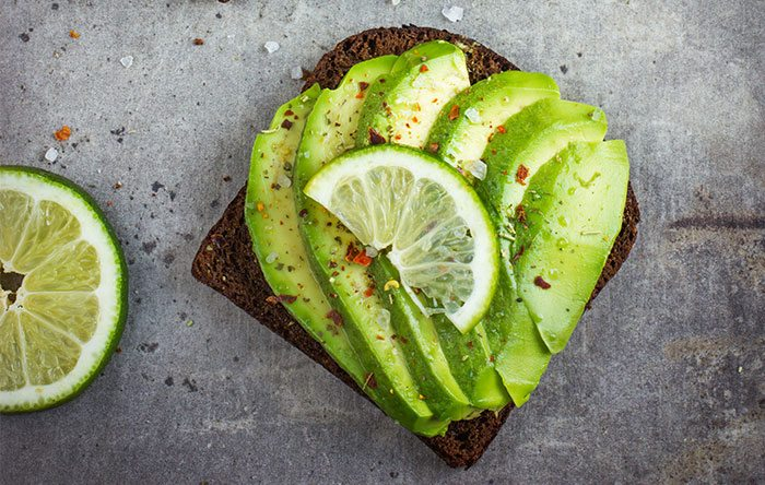 Avocado toast with lime and spices