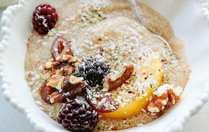 Spiced quinoa cream cereal