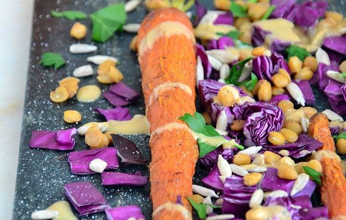 Tahini carrots