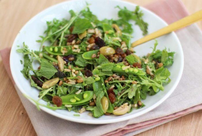salad-sugar-snap-pea-arugula