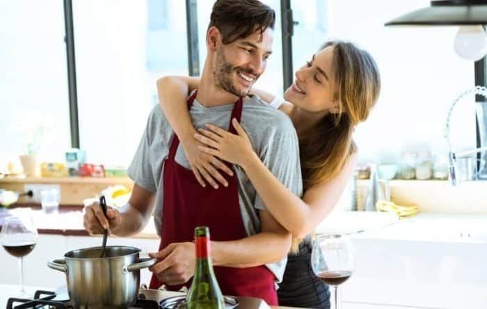 Image result for couples cooking together