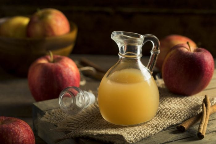 Raw Organic Apple Cider Vinegar in a Bottle